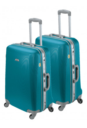Set de 2 valises rigides Bleu lagon