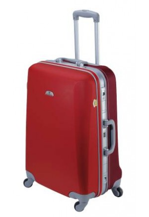 Grande Valise  rigide ASHOKA-Rouge coquelicot / écarlate