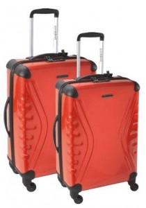 SET DE 2 VALISES RIGIDES CARBOSITE TSA