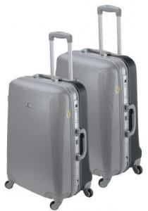 Set de 2 valises rigides ASHOKA-Gris argent / Anthracite