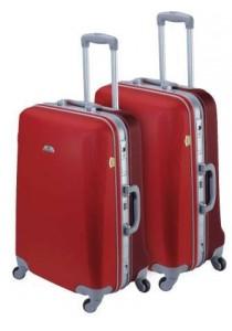 Set de 2 valises rigides ASHOKA-Rouge/Ecarlate