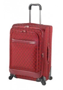 """Valise SQUARE """"Sean 6"""" 4 roues-Rouge"""