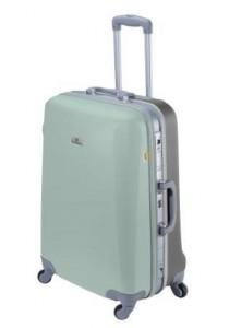 Valise moyenne rigide ASHOKA-Vert d'eau / gris étaim
