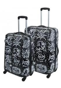 Set de 2 valises rigides SPIESSERT zippées-noir