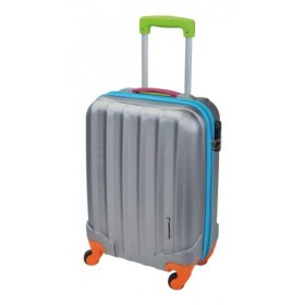 VALISE CABINE Format low-cost - Gris / multicolore