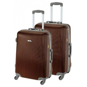 Set de 2 valises rigides ASHOKA-Bois marron