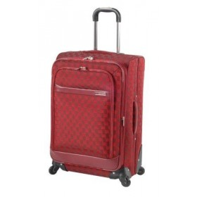 "Valise SQUARE ""Sean 6"" 4 roues-Rouge"