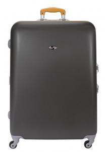 TRUMBEL Large size suitcase- Grey-Camel