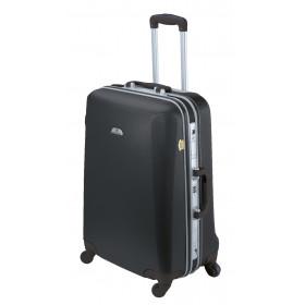 ASHOKA rigid large suitcase 69 cm Black
