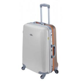 ASHOKA rigid large suitcase 69 cm - Silver / Dark Grey